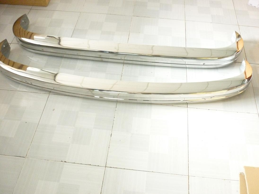 VW Karmann Ghia Stainless Steel Bumpers 1972-1974
